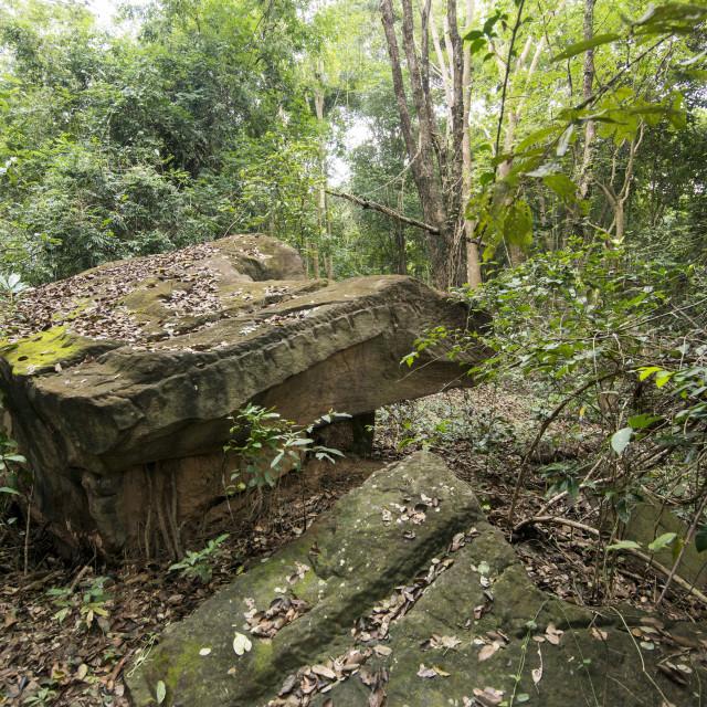 """THAILAND BURIRAM KHMER ANCIENT QUARRY"" stock image"