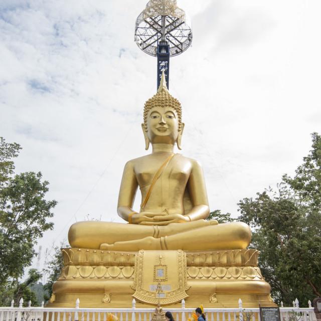 """""""THAILAND BURIRAM WAT SUPHATBOPHIT BUDDHA"""" stock image"""