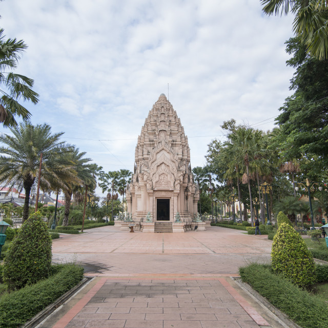 """THAILAND BURIRAM CITY PILLAR SHRINE"" stock image"
