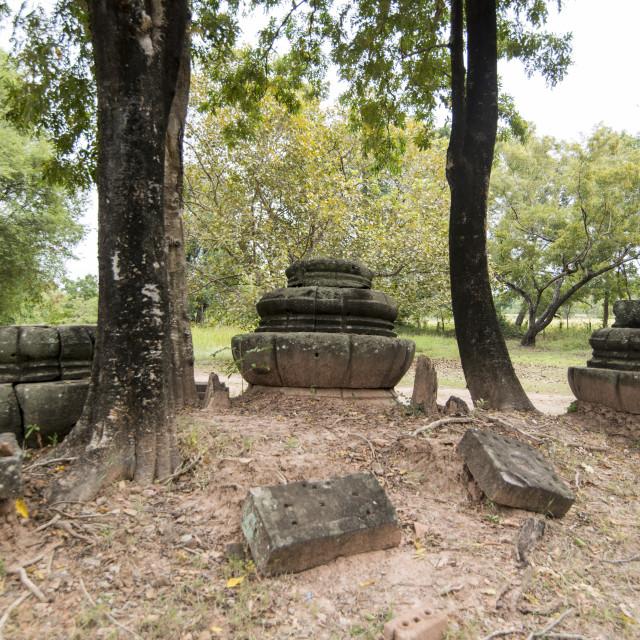 """""""THAILAND BURIRAM KHMER RUINS PRANG KU SUAN TAENG"""" stock image"""