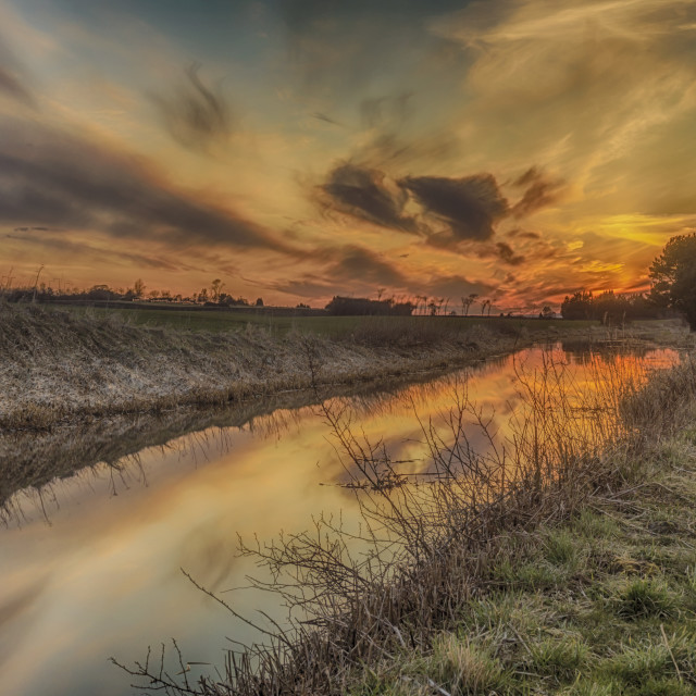 """""""Sunset at the Union Canal"""" stock image"""