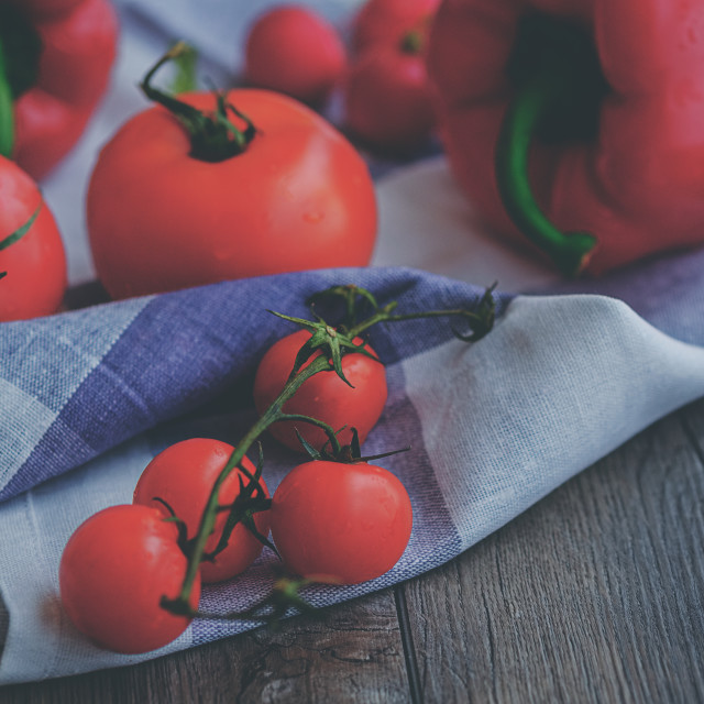 """Fresh cherry delichious tomatoes"" stock image"