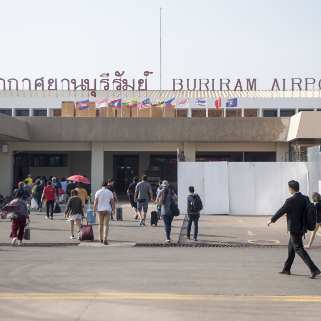 """THAILAND BURIRAM AIRPORT"" stock image"