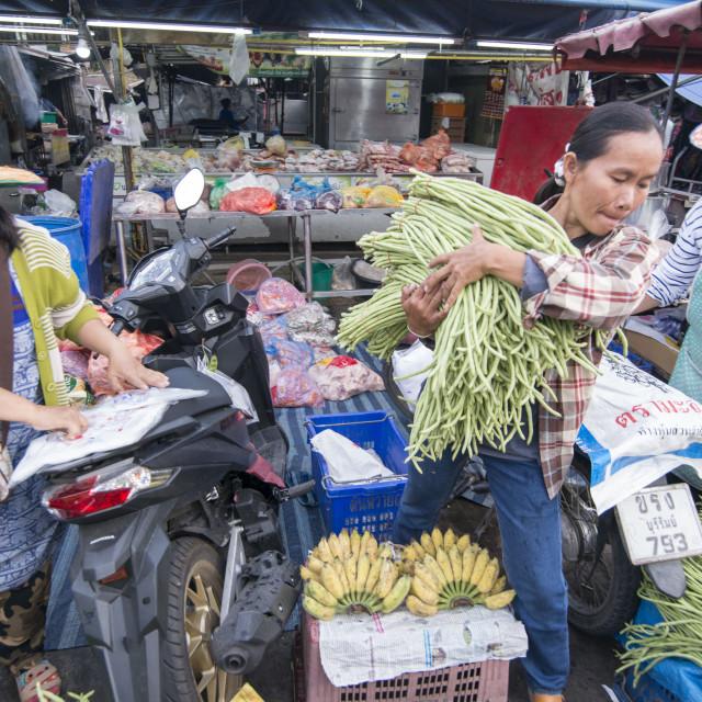 """THAILAND BURIRAM SATUEK MARKET"" stock image"