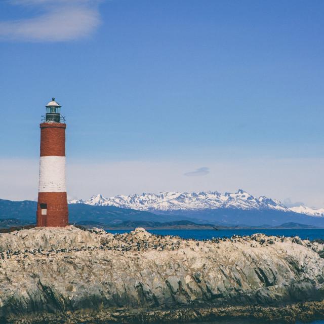 """Patagonia Light House"" stock image"
