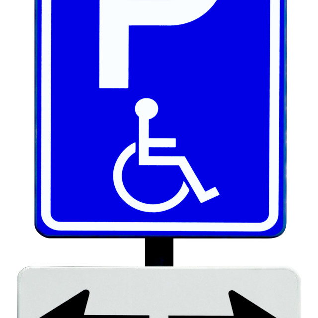 """Parking sign for disabled people"" stock image"