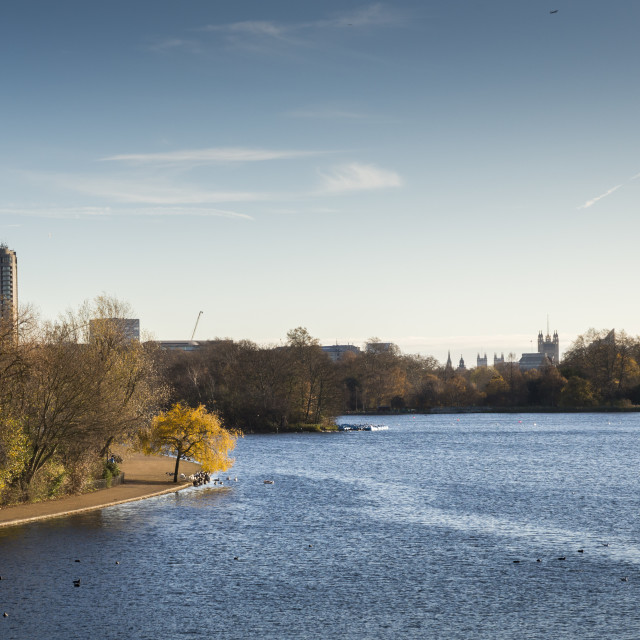 """Sunny Autumn day in Hyde Park, London"" stock image"