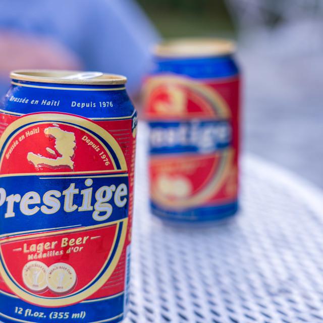 """Local beer in Haiti"" stock image"