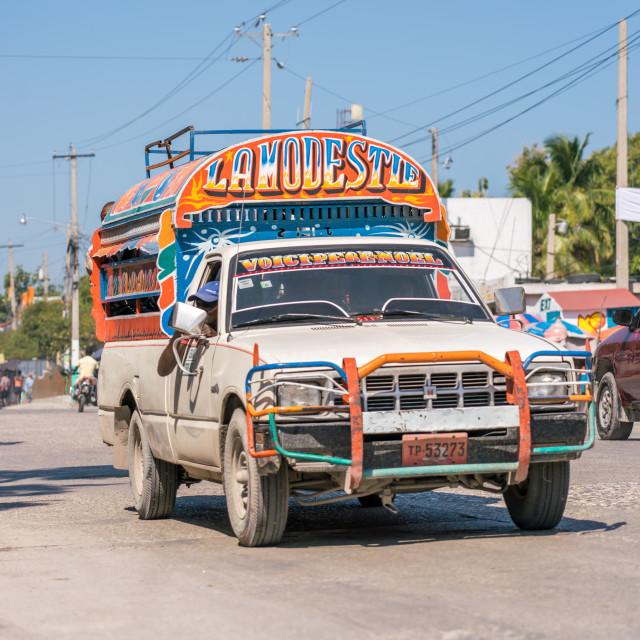 """""""Haitian tap tap"""" stock image"""