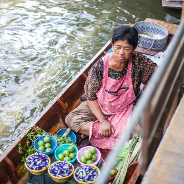 """Khlong Lat Mayom market"" stock image"