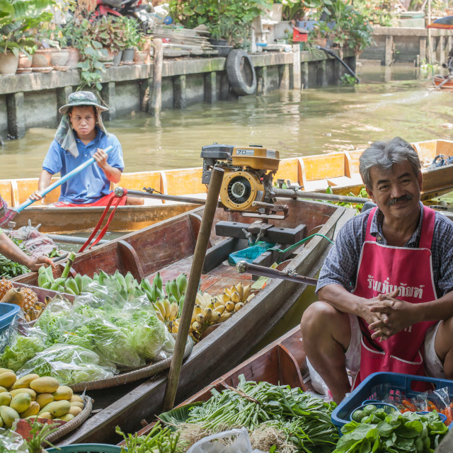"""Khlong Lat Mayom market sellers 2"" stock image"