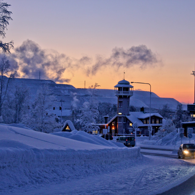 """Kiruna Street with smog"" stock image"