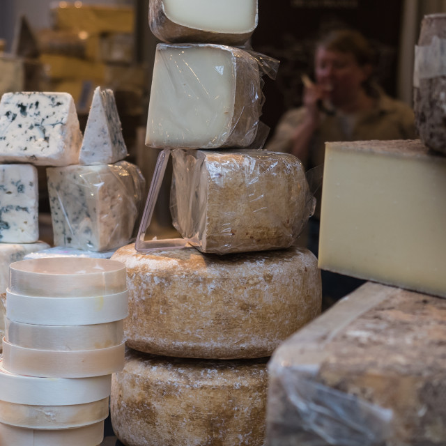 """Borough market cheeses"" stock image"