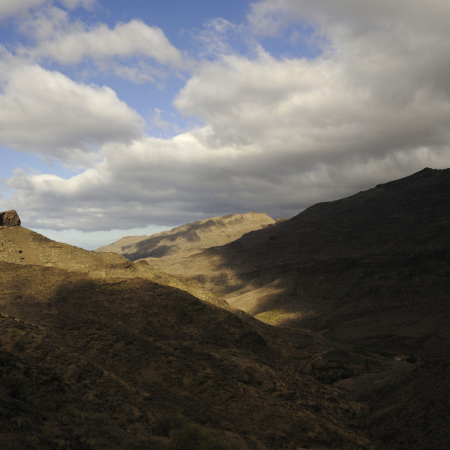 """""""Mountains and clouds , Gran Canaria."""" stock image"""
