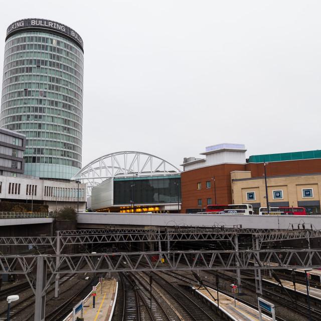"""Railway lines under the Rotunda building"" stock image"