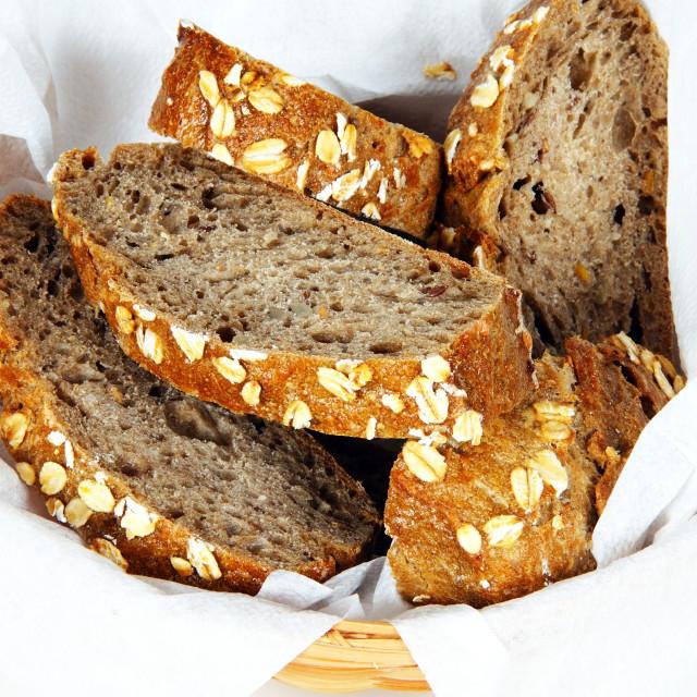 """German multigrain bread"" stock image"
