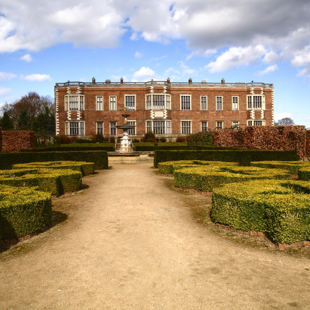 """""""Temple Newsam house and gardens"""" stock image"""