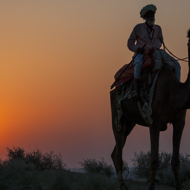 """sunset in India"" stock image"