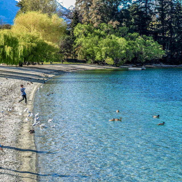 """Queenstown beach"" stock image"