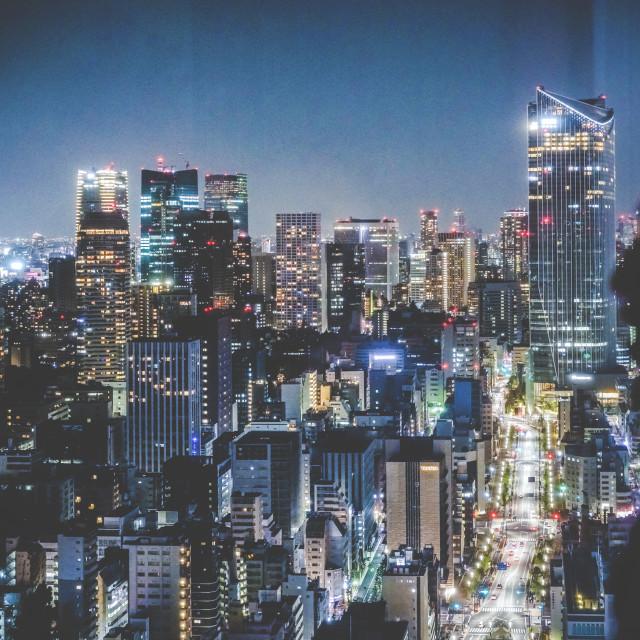 """Tokyo Night"" stock image"