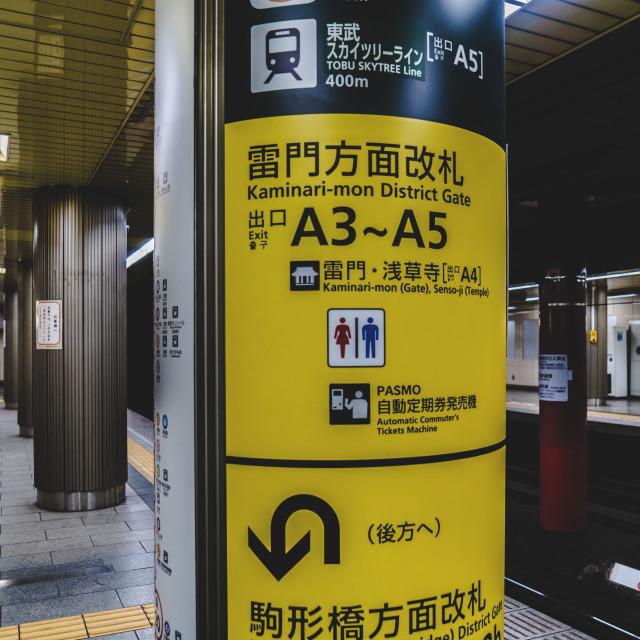 """Metro Sign"" stock image"