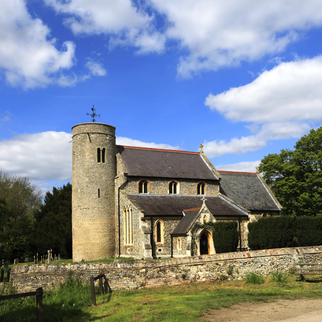 """St Peters church, Snailwell village, Cambridgeshire; England; UK"" stock image"