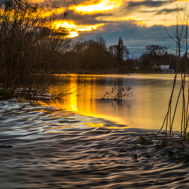 """""""Scenes from a flooded boating lake (2)"""" stock image"""