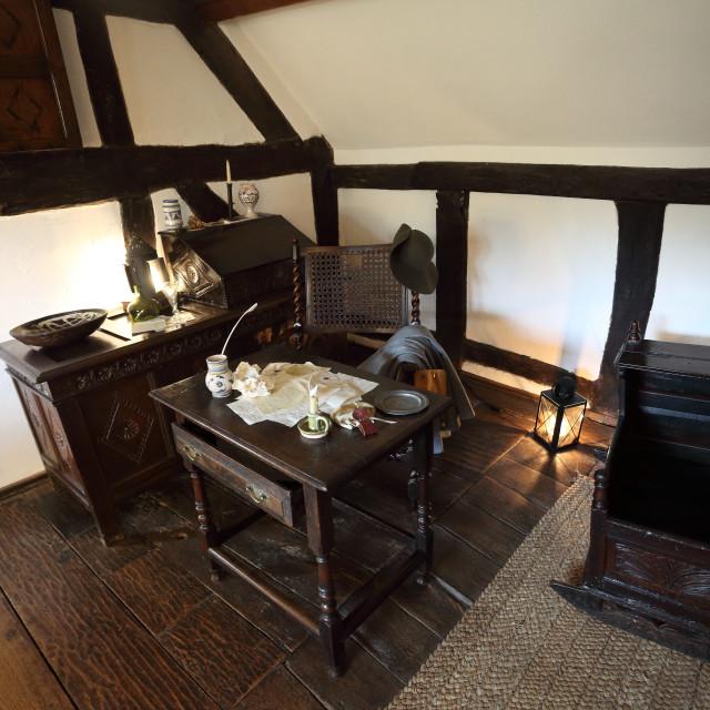 """William Shakespeare's desk"" stock image"