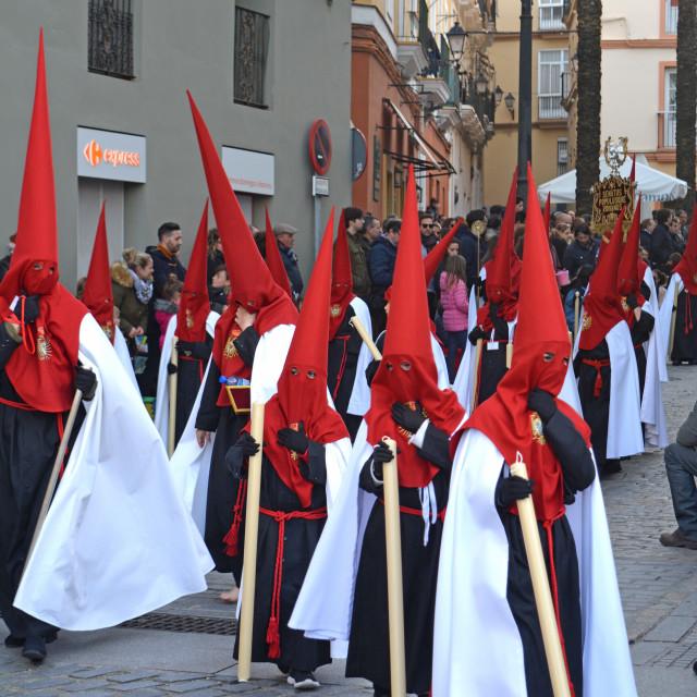 """Penitents Of Cadiz"" stock image"