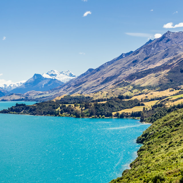 """Lake Wakatipyu, Glenorchy, New Zealand"" stock image"