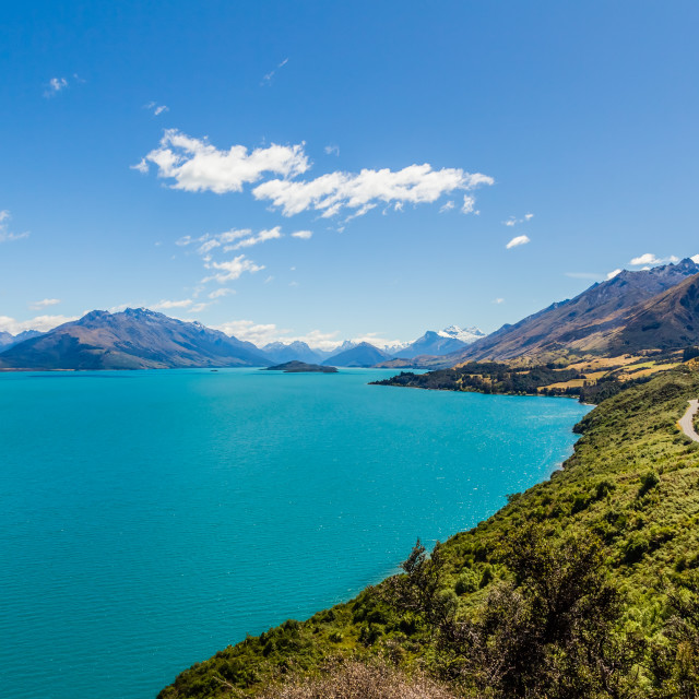 """Lake Wakatipu, Glenorchy, New Zealand"" stock image"