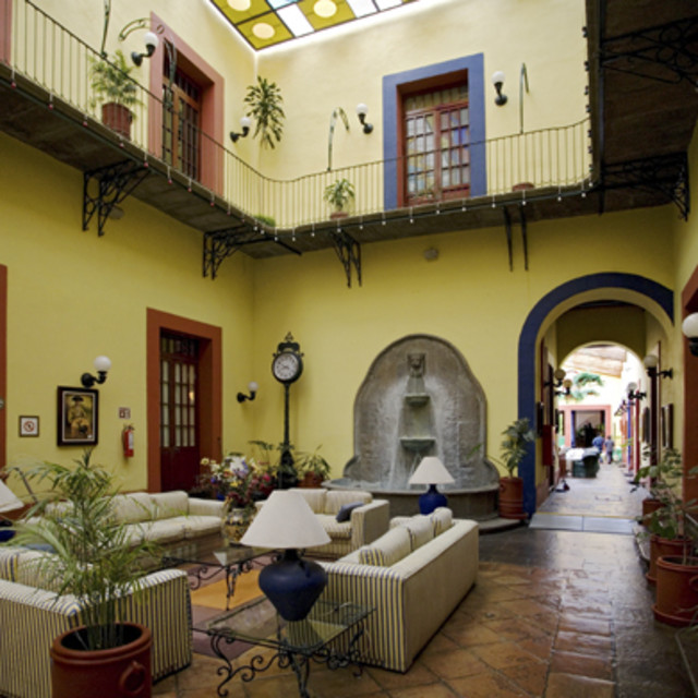 """Interior of Mexican Hotel"" stock image"