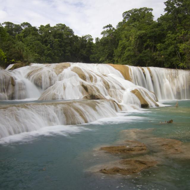 """Agua Azul, Chiapas, Mexico 1"" stock image"