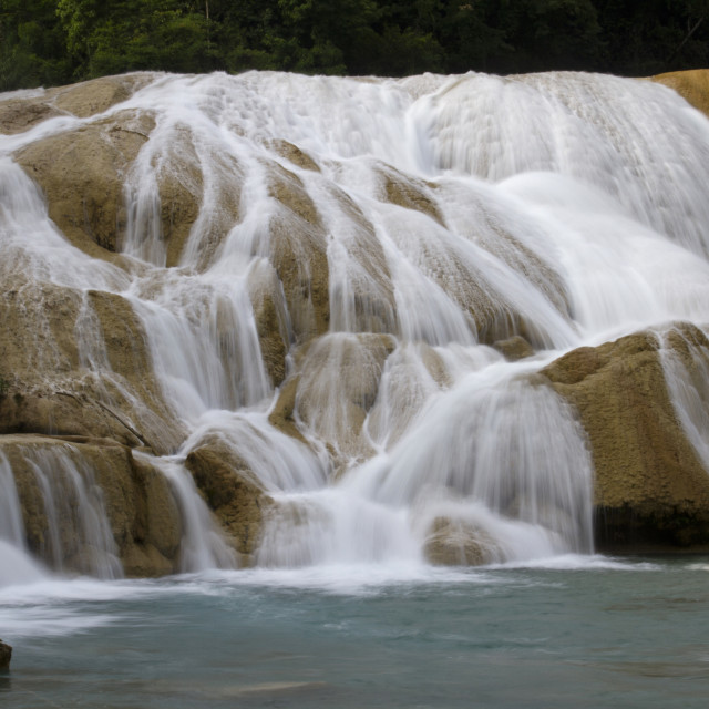 """Agua Azul, Chiapas, Mexico 2"" stock image"
