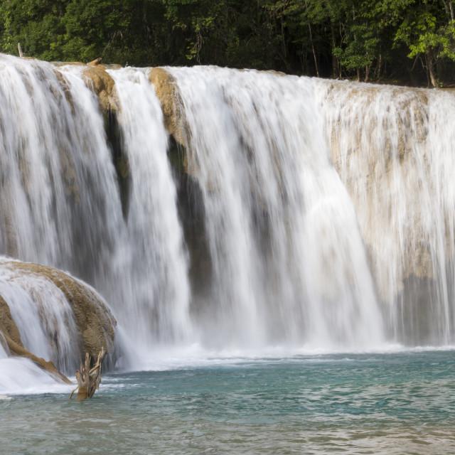 """Agua Azul, Chiapas, Mexico 3"" stock image"