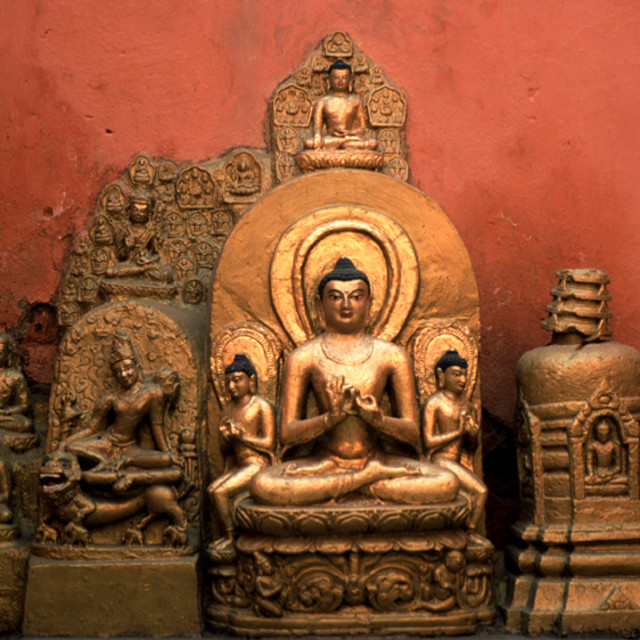"""""""Buddha rupa, Bodgaya, India"""" stock image"""