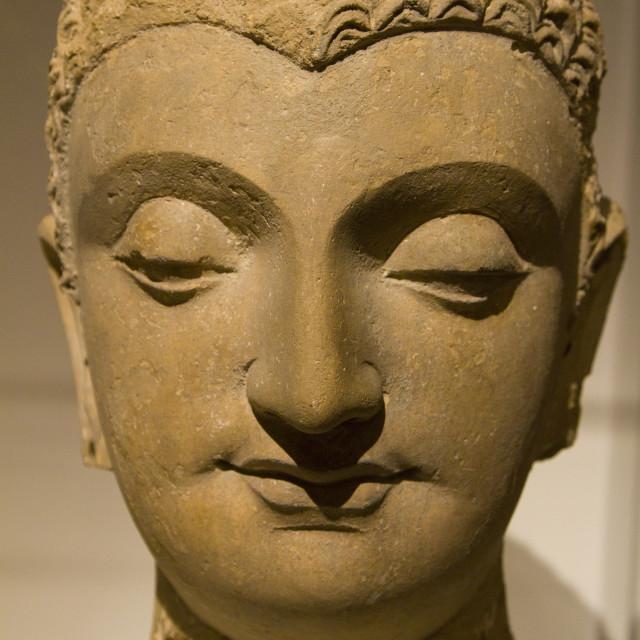 """""""Head of Buddha Shakyamuni"""" stock image"""