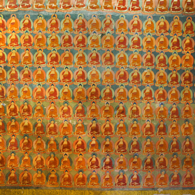 """Thanka of 1000 Buddhas"" stock image"