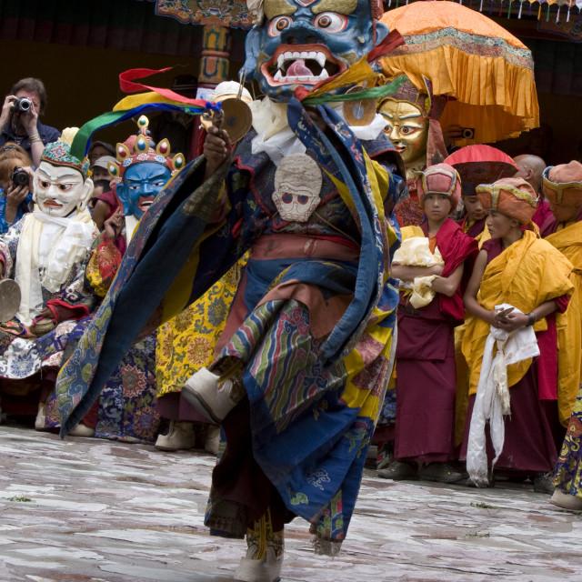 """Dancer, Hemis Festival, Ladakh, India"" stock image"