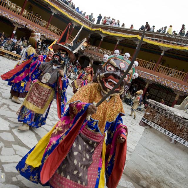 """""""Dancers, Hemis Festival, Ladakh, India"""" stock image"""