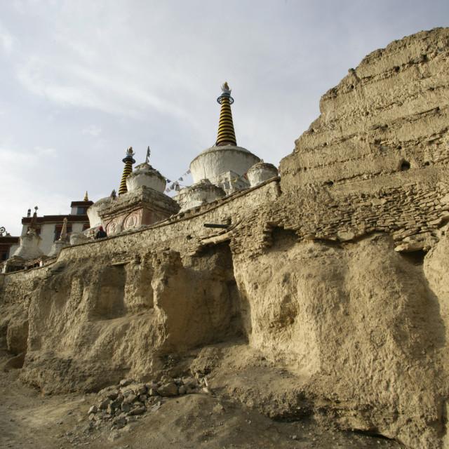 """""""Stupas, Ladakh, India"""" stock image"""