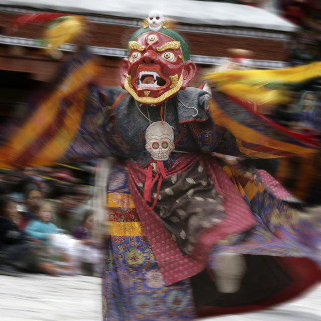 """Lama dancing, Hemis Festival, Ladakh, India"" stock image"