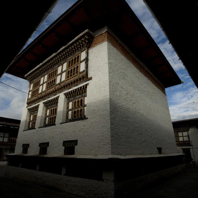 """Mongar Dzong monastery, Bhutan Bhutan"" stock image"