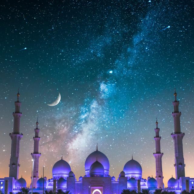 """""""Night in Abu Dhabi"""" stock image"""