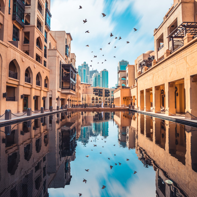 """Dubai Reflections"" stock image"