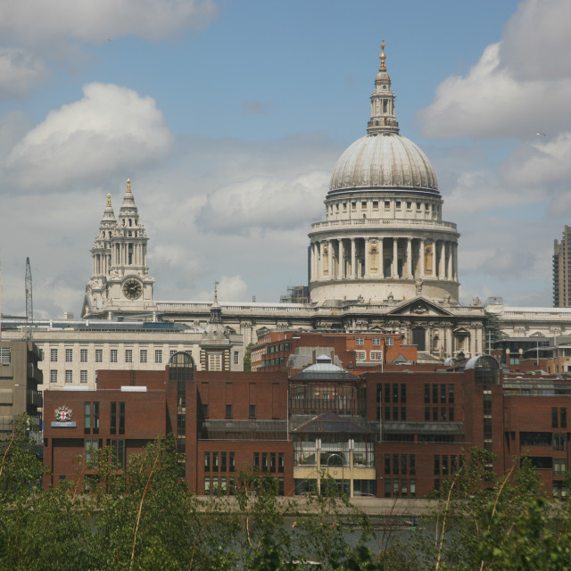 """St Pauls from Tate, London"" stock image"