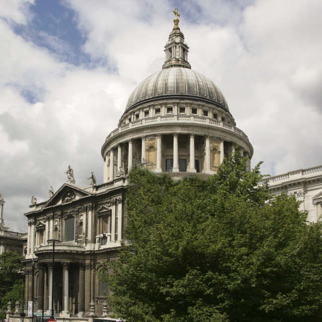 """St Pauls, London-69816"" stock image"