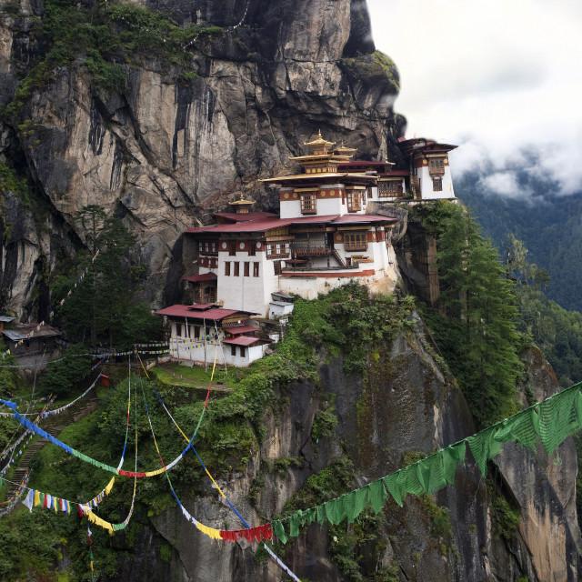 """""""Taksang Monastery, Bhutan"""" stock image"""