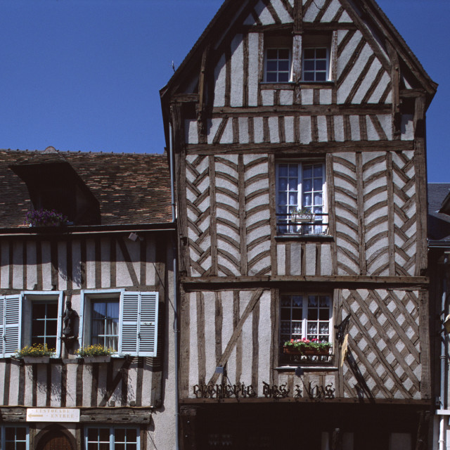 """Timber House, Chartres, France-66971"" stock image"