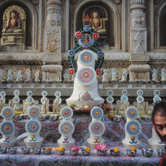 """Tormas,Maha Bodhi Temple Bodhgaya, India"" stock image"